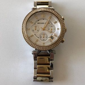 Accessories - MK watch two tone gold & silver